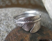 Silver Flight Feather Ring