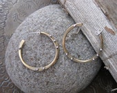 Small Bronze and Silver Hoop Earrings