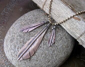 Woodpecker Flight  Feather Necklace