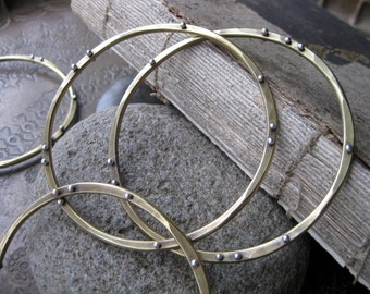 Orbit Bangle Bracelets (three)