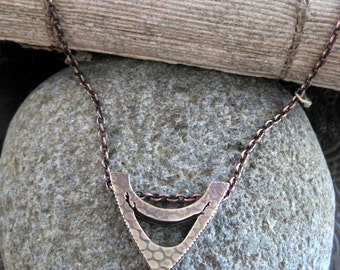 Bronze and Faceted Freshwater Pearl Necklace