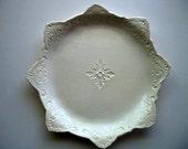 Ornate Scroll Serving Platter 12 inch Diameter