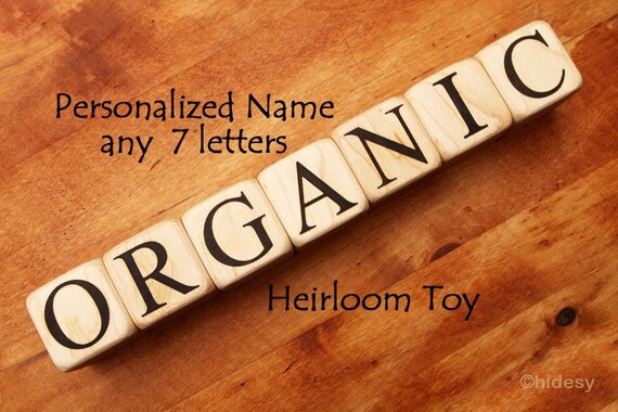 7  Baby Name Blocks Organic Toy Newborn Photography Props Baby Dedication Gift Baby Boy Baptism Gift Personalized New Baby Gifts Family Name