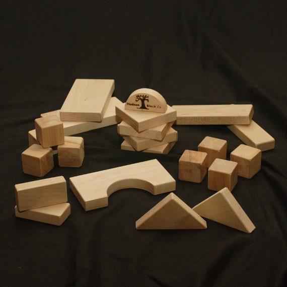 Natural Wood Building Blocks - Educational Toy Block