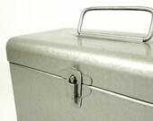 vintage industrial film case . holds 12 8MM films