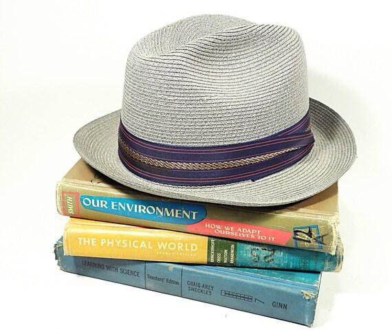 vintage hat . gangster fedora by Leone Cappelli