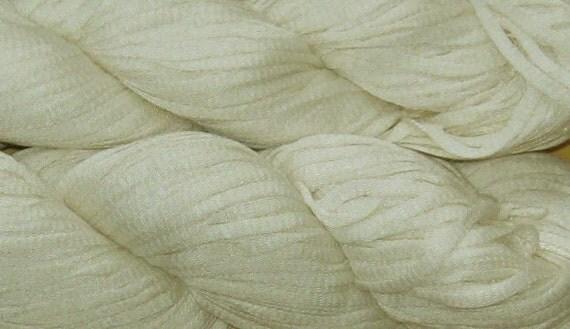 340 yards Bamboo Tape Yarn, Undyed, 6.9 oz, 195 grams, SALE