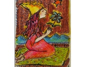 Yoga In The Desert - Hand Painted Card