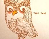 Twit Twoo Owl Card