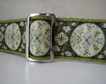 Handmade Green Women's Belt - ELIZABETH