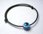 Handmade Evil Eye Bracelet: Adjustable