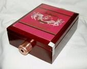 50% SALE  Kaleidoscope, Cigar Box, Image Wheel