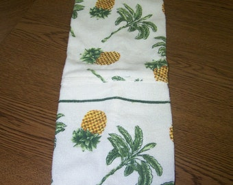 Pineapples and Tree Plastic Bag Holder - Lovely Colors - Gift -