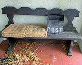Vintage Spanish Gothic Wood Bench