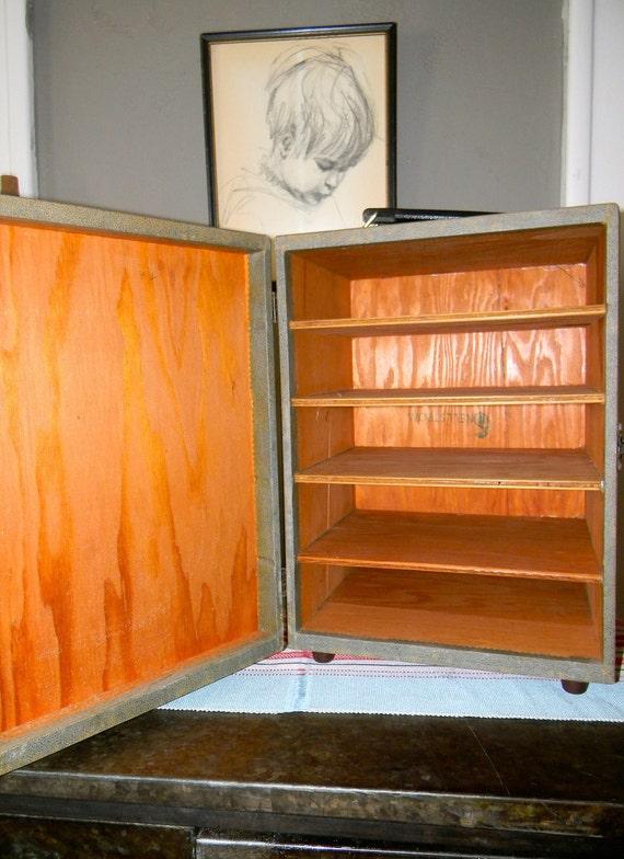 Vintage Modern  Solid Wood Snellstrom Slide Cabinet