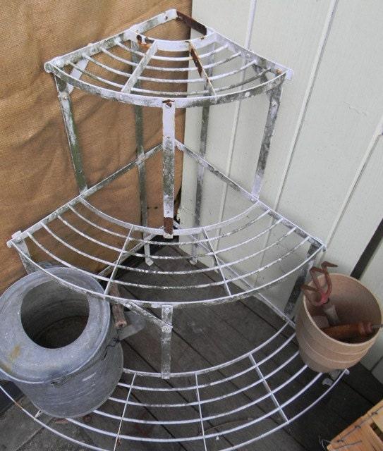 Vintage Garden Metal Three Tier Plant Stand