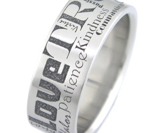 Words To Live By Titanium Ring
