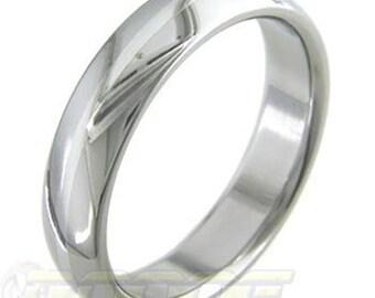 PlatinumBand - Titanium ring inlaid with pure PLATINUM