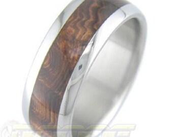 Titanium with Rosewood Burl inlay
