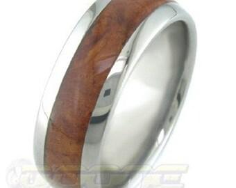 Titanium with Amboyna Burl inlay