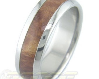 Titanium with Red Mallee Burl inlay