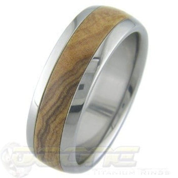Titanium with African Olivewood inlay