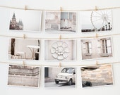 Postcard Set - Paris Postcards Collection, White - 4x6 art postcard - Paris Photography - TheParisPrintShop