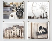 SALE! Paris Photography, Gallery Wall Prints, Fine Art Photography Collection, Large White Wall Art Prints