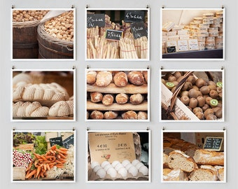 SALE! Fine Art Photography, Paris Gallery Wall Art, Paris Market Photography Collection, Kitchen Art Food Prints, French Country Decor