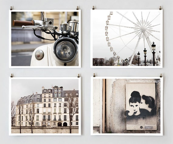 Paris Photography, Gallery Wall Prints, Fine Art Photography Collection, Large White Wall Art Prints