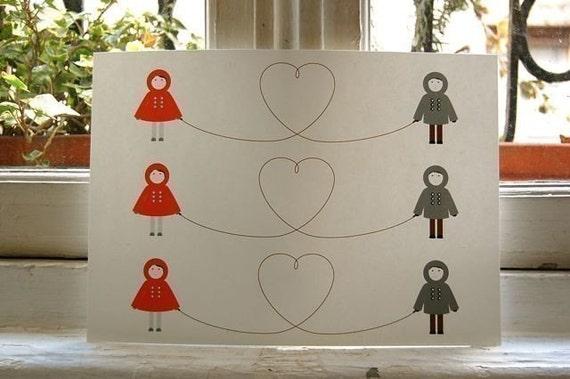 Children's Valentines - Printable Set of Three