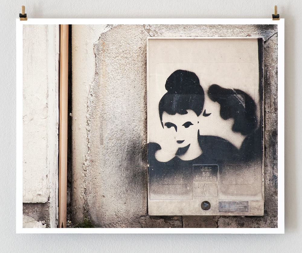 "Paris Print, ""Paris Graffiti"" Extra Large Wall Art, Paris Photography Art Print, Oversized Art, Fine Art Photography Paris Decor"