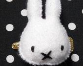 Felt Miffy the Bunny Hairclip