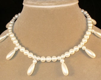 Barbara---Baroque glass pearl necklace