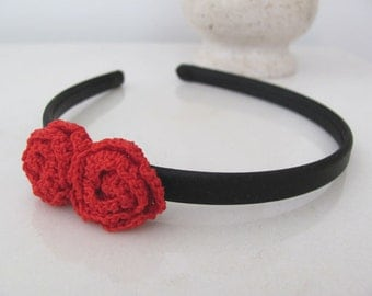 SALE Red Rose Headband
