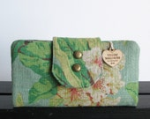 TY Wallet- Floral linen 6 slot wallet