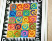 "Linderella's Feelin' Groovy Quilt Pattern   ..   48"" x 57""   ..   Designed by Linda Sullivan"