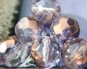DREAMY .. Fire Polished Czech Glass Beads  (259-4)
