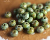 sale .. ROLLING ROX TOTS .. 30 Premium Picasso Czech Rondelle Glass Beads 3x5mm (1984-st)