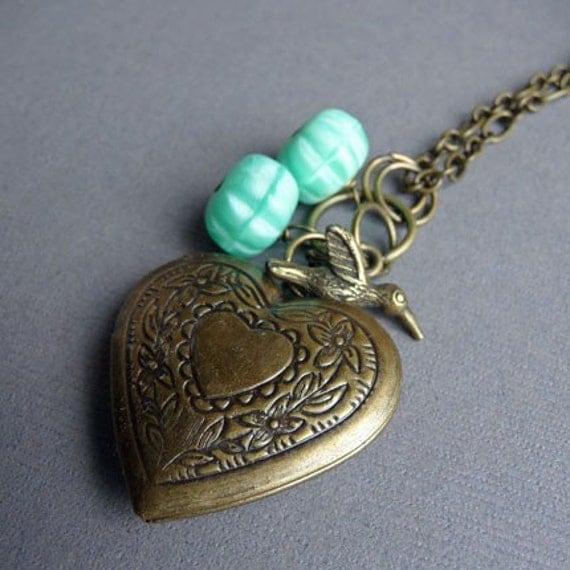 Pistachio...Locket Necklace