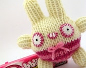 Bubbles Tiny Hand Knitted Bunny