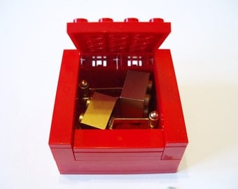 RED Cufflinks Gift / Display Box. Handmade with LEGO(r) bricks - cufflinks sold separately