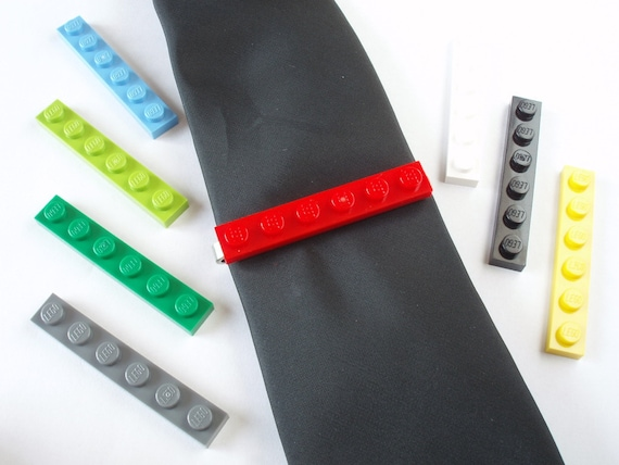 Tie Slide - Tie Clip - Handmade with LEGO(r) plates - Weddings - Grooms - Best Man - Father of the Bride