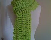 Apple  Green Scarf pompy, and yummy