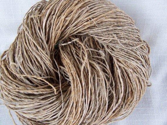 1 skein  Handspun Hemp Yarn - 100 Grams each  - BodhiYarn