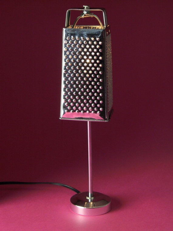 Items similar to Cheese Grater Lamp on Etsy