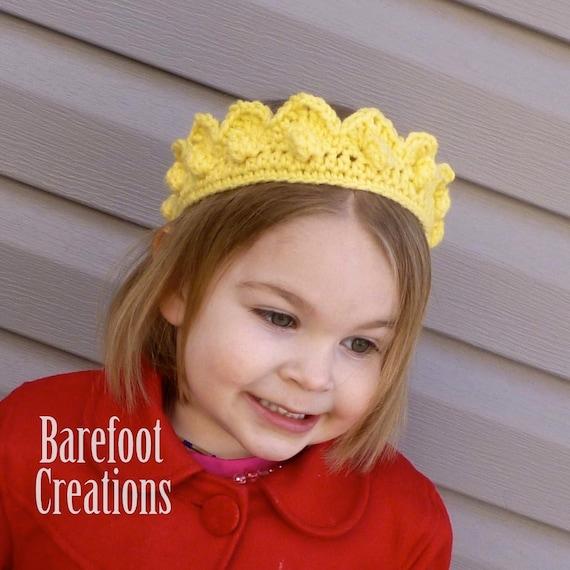 Crochet Royal Prince Princess Crown - Newborn to Adult