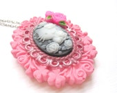 Hello Kitty Pink Cameo Necklace