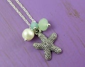Starfish Crystal and Pearl Necklace