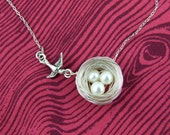 Twist on a Classic Birdie and Nest necklace